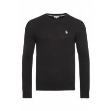 U.S. Polo ASSN. Pullover  mit Rundhals Ausschnitt in Schwarz