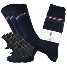 U.S. Polo Assn. 18 Paar Socken in Schwarz und Navy