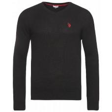 U.S. Polo ASSN. Pullover  mit V-Ausschnitt in Schwarz